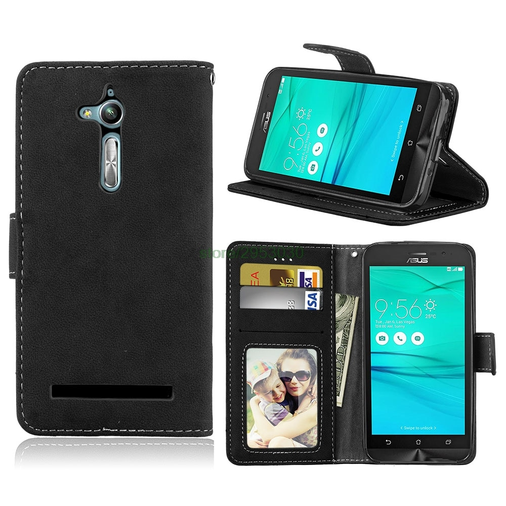 Para Asus Zenfone 3 TV ZB500KL ZB500KG caso Funda de cuero flexible con billetera bolsa para Asus X00AD Zenfone 2016 ZB500 ZB 500 KL 500KL
