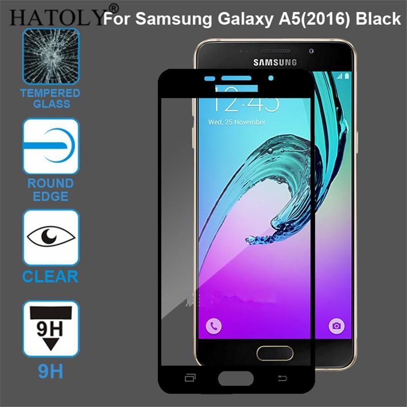 Cristal templado para Samsung Galaxy A5 2016, cristal 9H, película de cobertura completa, Protector de pantalla para Samsung Galaxy A5 2016, cristal A510F A510
