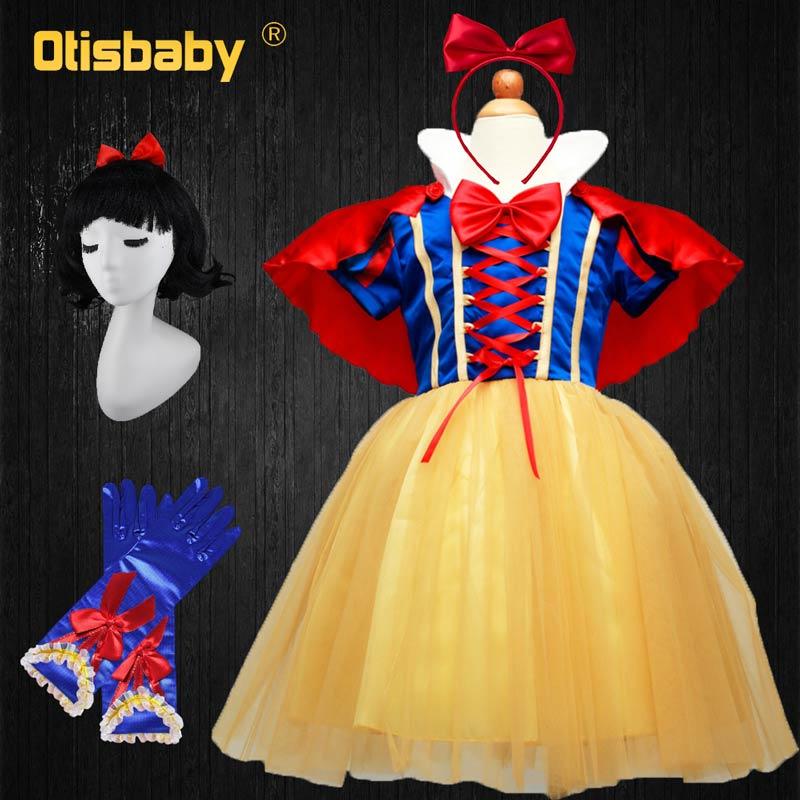 OTISBABY 4 schichten Schnee Weiß Cosplay Kleider für Mädchen Partei Prinzessin Kleid kinder Tüll Kleid Baby Mädchen Tutu Kleid infant