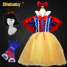 OTISBABY 4 strati biancaneve abiti Cosplay per ragazze Party Princess Dress abito in Tulle per bambini Baby Girl Tutu Dress Infant