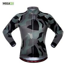 WOSAWE printemps automne à manches longues maillot de cyclisme séchage rapide coupe-vent cyclisme hauts maillot de vélo pour hommes et femmes