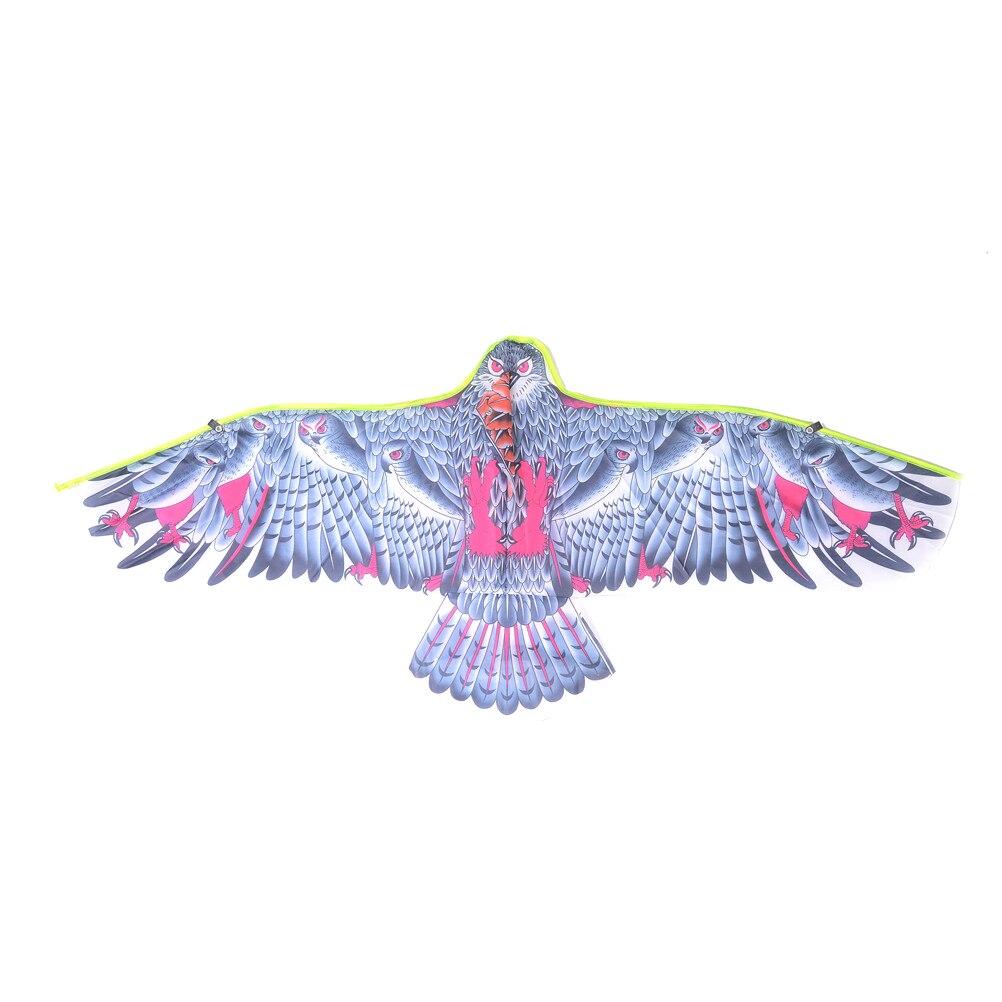 Engraçado águia kite com alça e pipas controle fácil bom voar enorme 1.1 mfor crianças esportes ao ar livre brinquedo presente