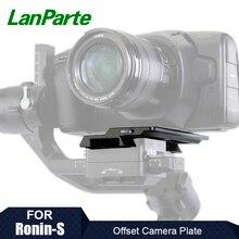 Lanparte Ronin S plaque Offset pour BMPCC 6K 4K pour Blackmagic Design caméra de cinéma de poche pour accessoires de caméra à cardan DJI