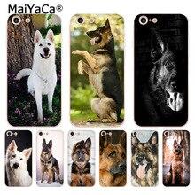 MaiYaCa allemand blanc noir berger chien téléphone accessoires étui pour iphone 8 7 6 6S Plus X 5 5S SE 11pro housse