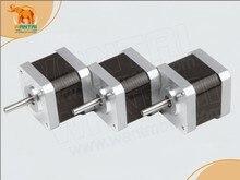 Wonderful!3PCS NEMA17 0.9degree 1.7A 4000g.cm 56oz-in 40N.cm stepper motor stepping motor,2phase,3D Printer 42BYGHM809