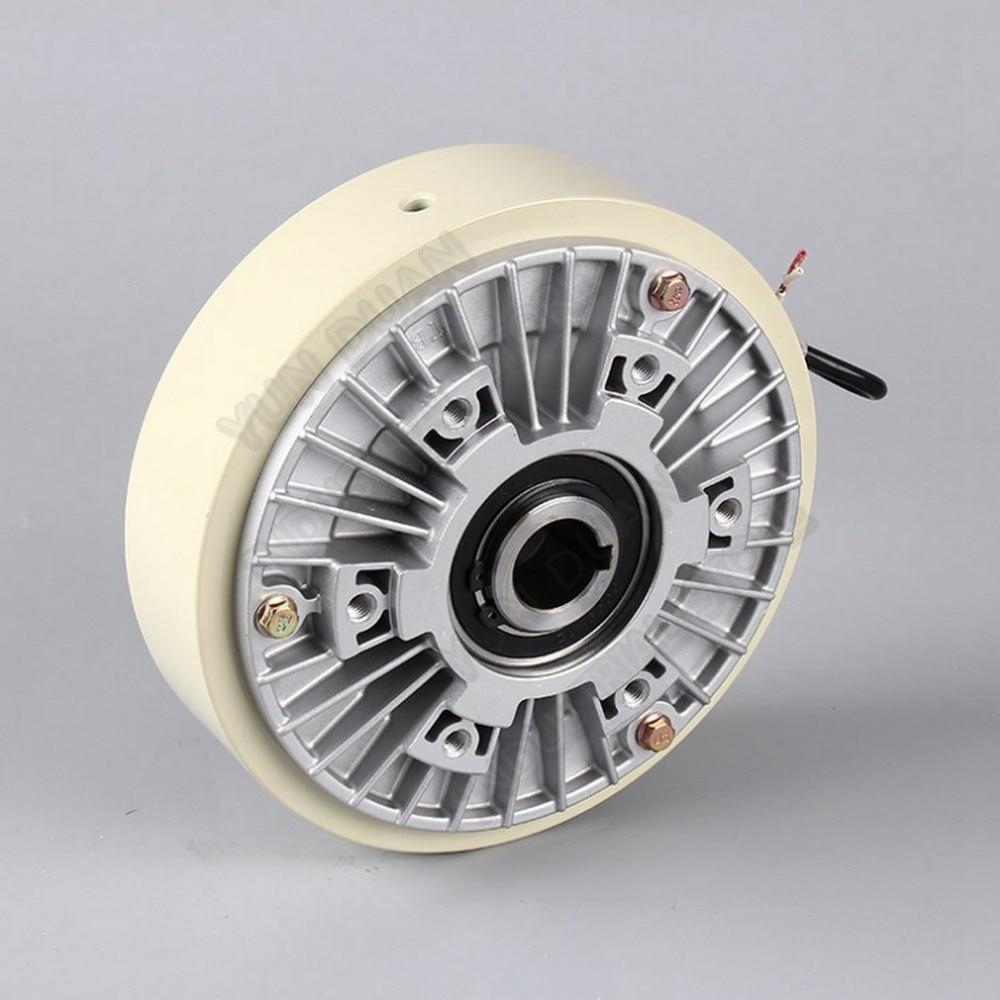 6Nm الفرامل مسحوق المغناطيسي 0.6 كجم تيار مستمر 24 فولت رمح جوفاء 16 مللي متر 1000RPM الاسترخاء للتحكم التوتر المستمر انزلاق محاكاة تحميل