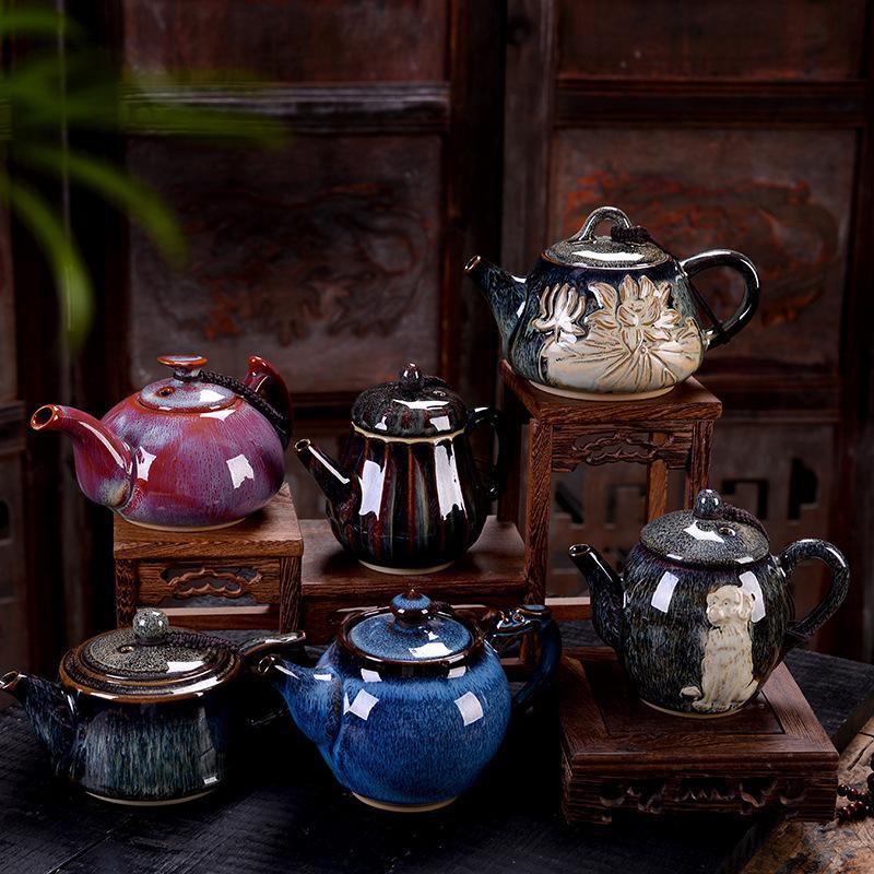 Tetera de cerámica de porcelana juego de té de Kung Fu tetera de estilo chino tetera de restaurante de casa Hotel jarra de agua Teaware