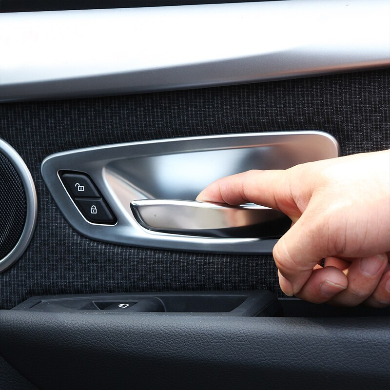 4 piezas cromado apto para BMW 2 Series Tourer activo F45 2016 puerta interior manija abierta cubierta de cuenco