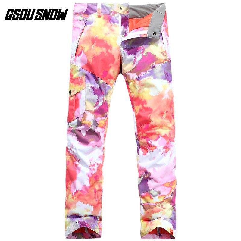 GSOU SNOW pantalones de esquí de doble tablero de poliéster para mujer, pantalones esquiar exterior gruesos, cálidos, impermeables, a prueba de viento, tamaño XS-L