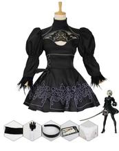 Женский костюм для косплея Nier Automata, костюм для Хэллоуина, костюм для косплея, новинка S-XXL