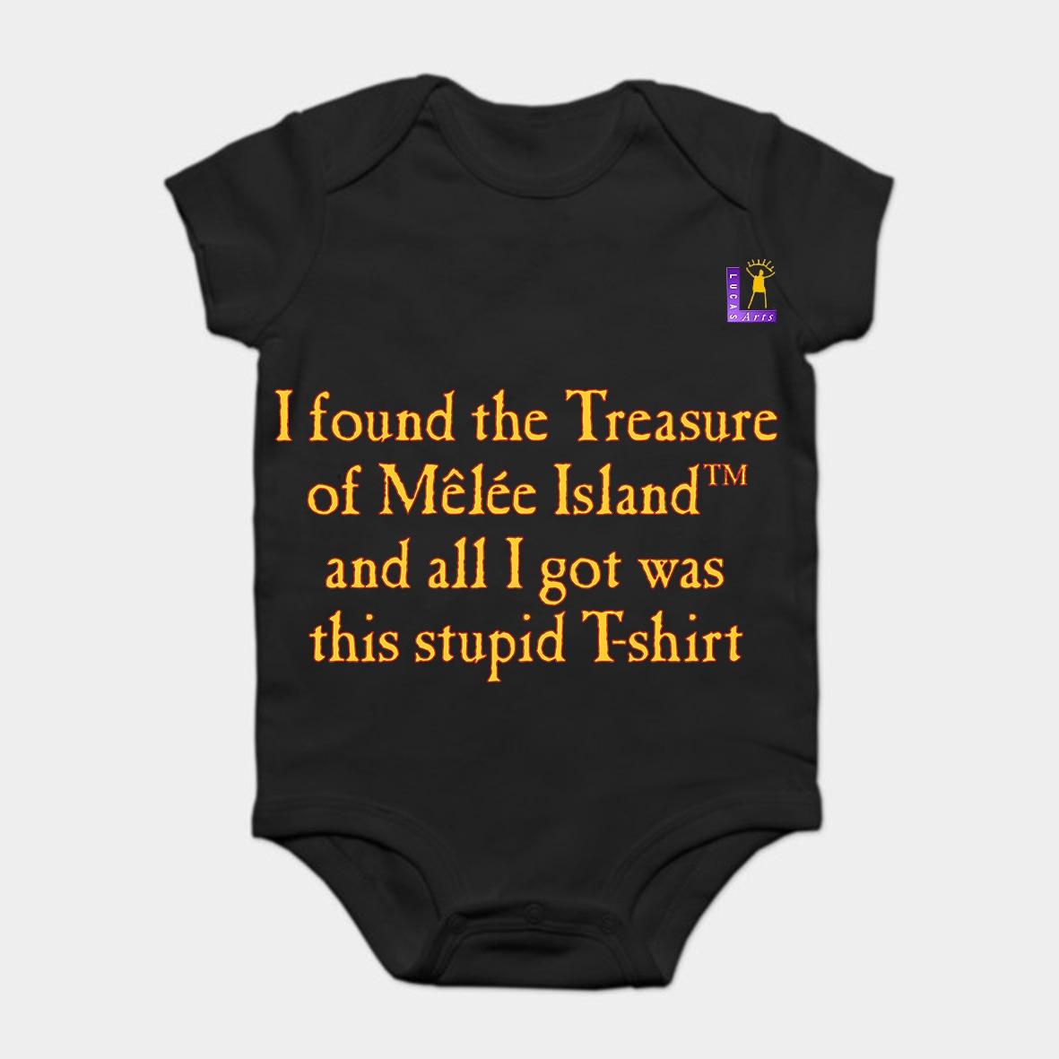 Baby Onesie Baby Bodysuits kid t shirt Fashion Cool Funny MONKEY ISLAND TREASURE TROVE Customized Printed