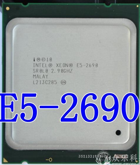 Процессор Intel Xeon E5-2690 8-ядерный, ЦП с частотой 2,9 ГГц, SROL0, C2, LGA2011, рабочий процессор для настольного компьютера