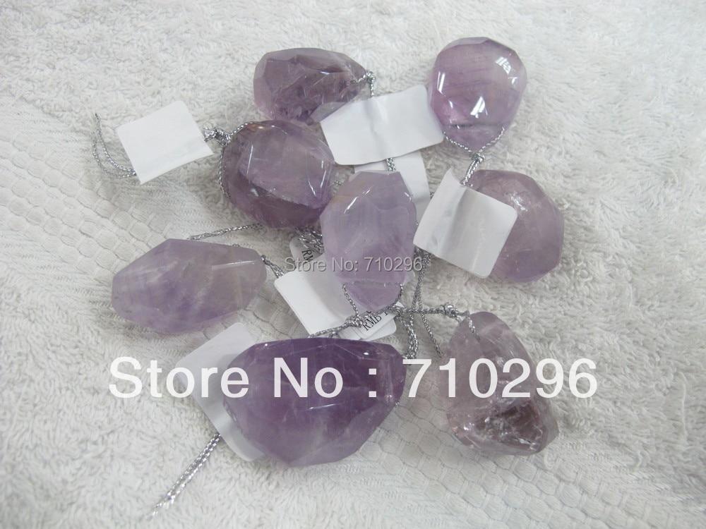 everlast Pendants 10pcs/lot Natural Amethys t Quartz irregular 25-36mm Natural everlast Jewelry Pendants