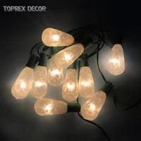 toprex e17 string lights length 3m patio lights outdoor christmas tree light backyard decor party lights