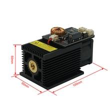 Potężny 450nm 15W 15000MW moduł lasera niebieskiego diody biurkowej DIY głowica do grawerka cnc cutter printer