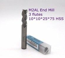 router bit 10 pcs diameter 10mm 3 Flute HSS M2AL end mill  for CNC milling machine tools mills cutter