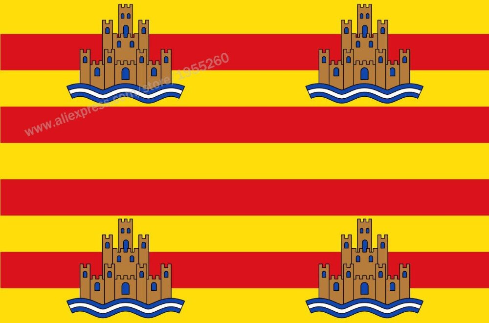 Flag of Ibiza Balearic Islands 3 x 5 FT 90 x 150 cm Spain Flags Banners
