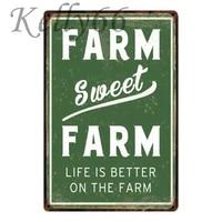 Kelly66      affiche en etain Vintage ferme douce ferme  decoration de la maison  peinture dart mural de Bar  taille 20x30 CM  y-1205