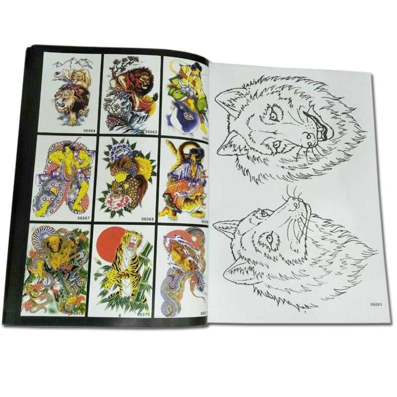 Novos livros de tatuagem manuscritos tatoo animais daquan lobisomem cobra lagarto habby braço tatuagens padrão homem com fio rascunho venda