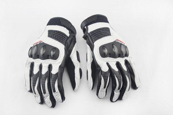 Dain guantes de cuero de la motocicleta moto gira guantes dedo completo