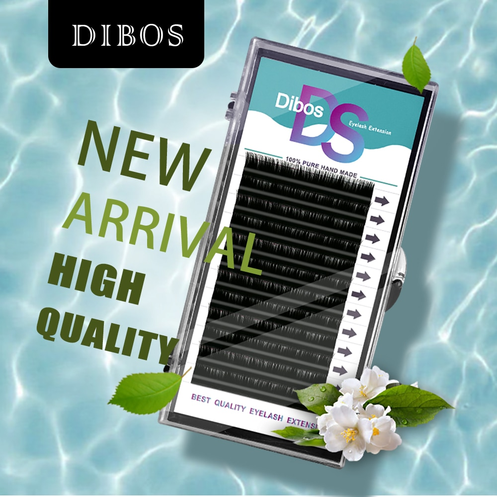 Dibos All Size 005/007/015/020 B/C/Dcurl Lashes Individual Faux Mink Eyelashes Volume Lashes Silk Fake False Eyelash extension
