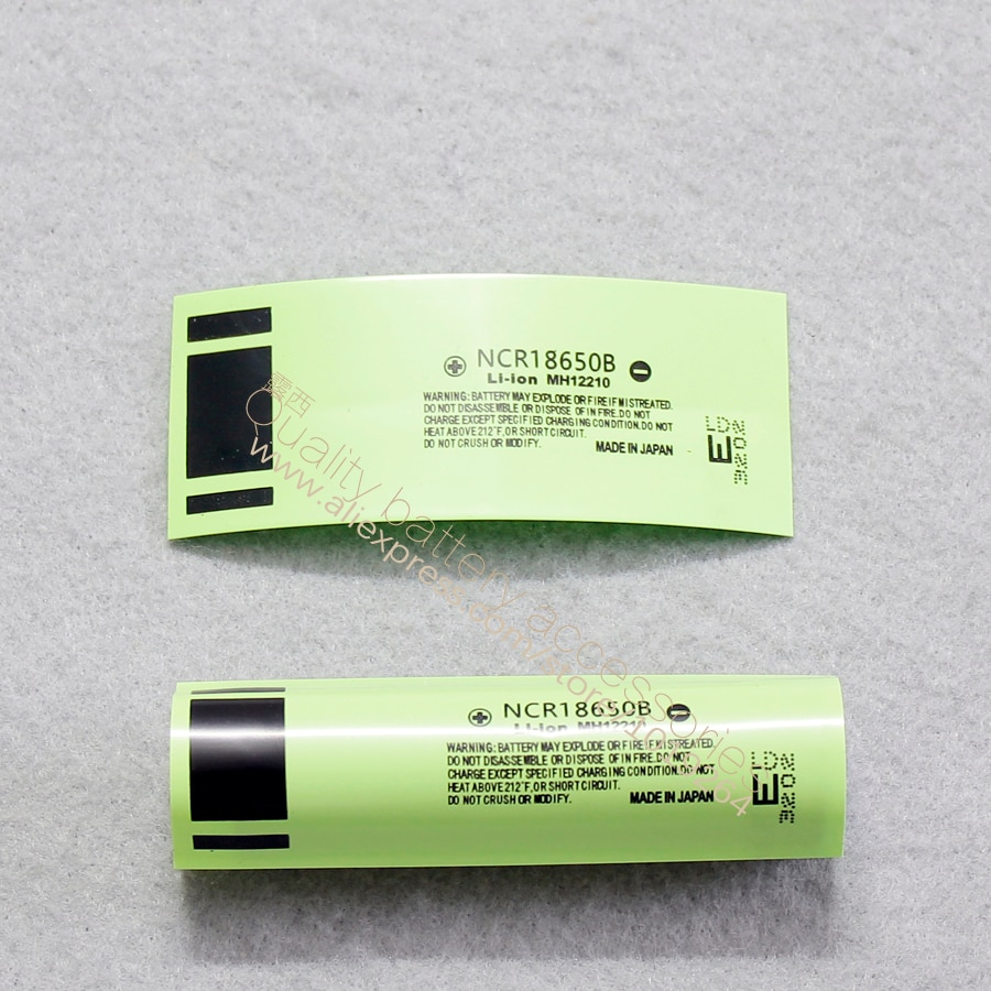 100pcs/lot 18650 lithium battery package casing heat shrinkable cover skin PVC thermal film 3400MAH