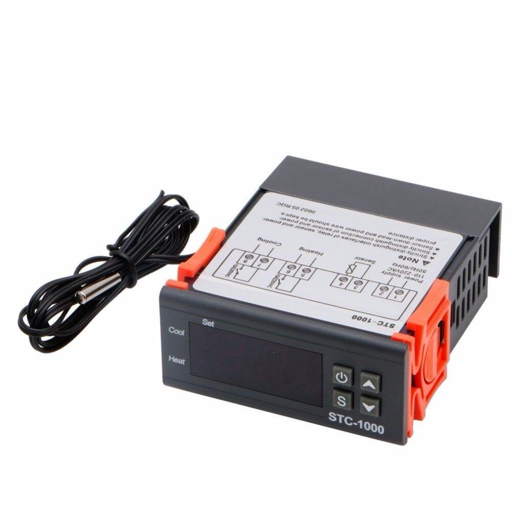 110V220V Digital STC1000 AllPurpose Temperature Controller Thermostat Sensor Temperature Control Products