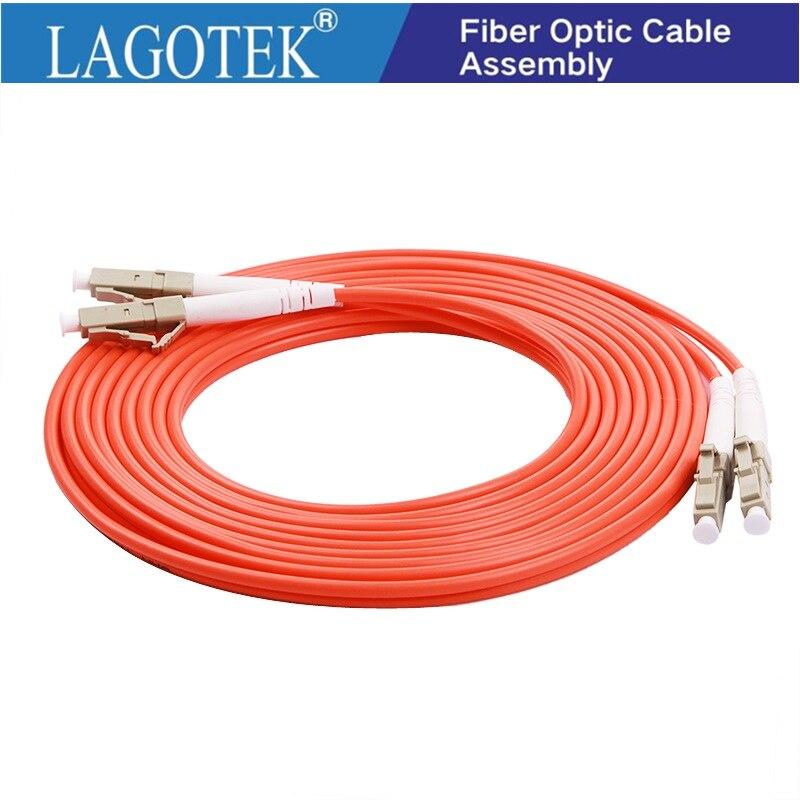 LC a LC dúplex 2,0mm 3,0mm PVC modo Mulit Cable de parche...