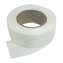 Self-adhesive white fiberglass mesh tape for cracks holes