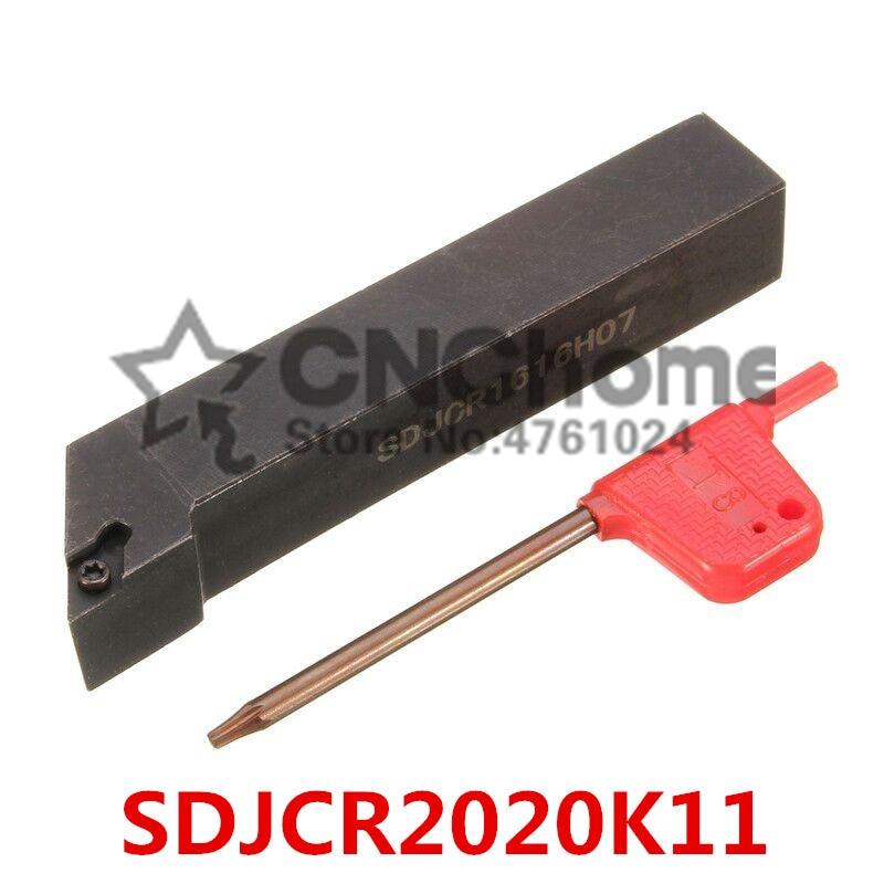 SDJCR2020K11/SDJCL2020K11 herramientas de corte de torno de Metal máquina de torno herramientas de torneado cnc soporte de herramienta de torneado externo s-type SDJCR/L