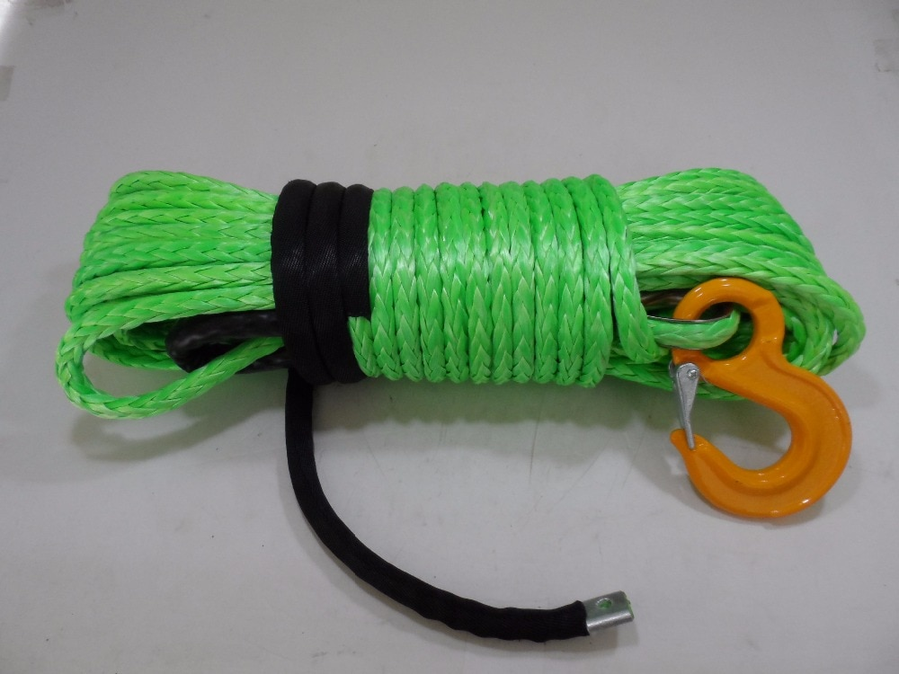 Green 12mm*30m Replacement Synthetic Rope for Winch,ATV Winch Cable,Plasma Rope,Off Road Rope