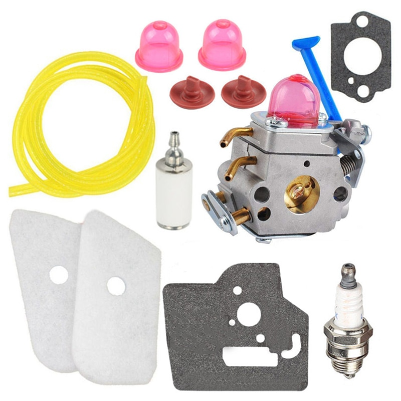 Carburador resistente Kit para Husqvarna 124L 125L 125LD 128C 128CD 128L Trimmer 545081848 al aire libre de equipos de energía