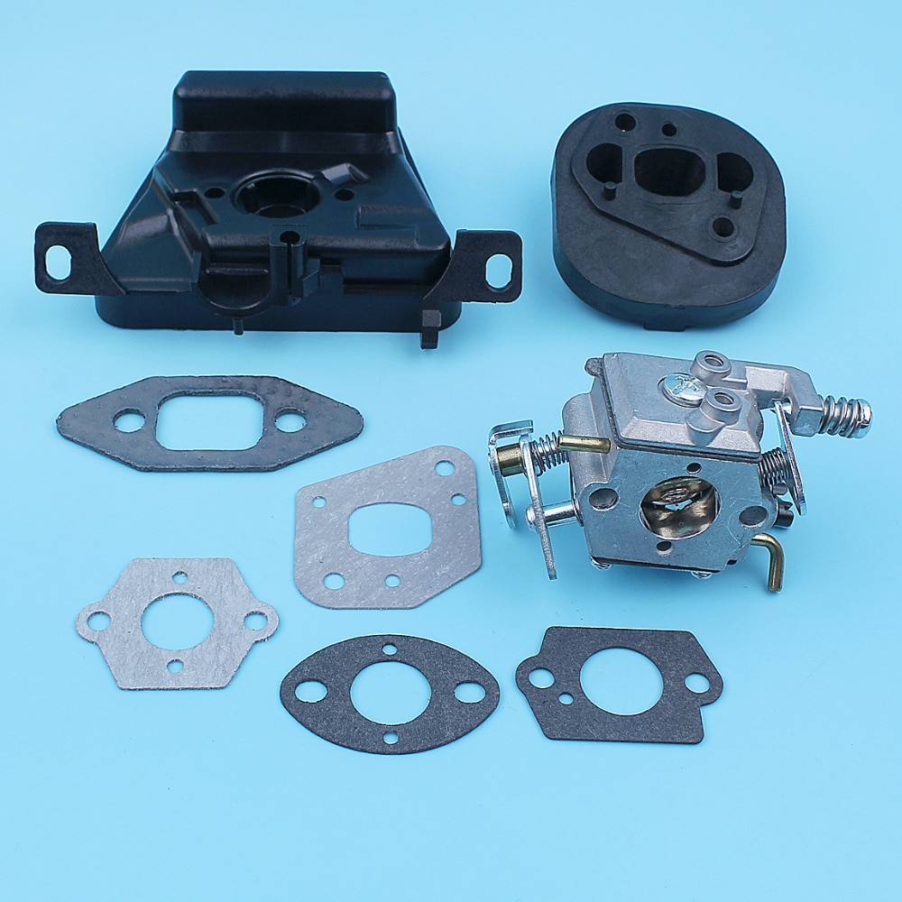 Carburetor Intake Manifold Air Filter Bracket Kit For MCCULLOCH MAC CAT 335 435 440 Chainsaw Walbro Carb Replacement Part