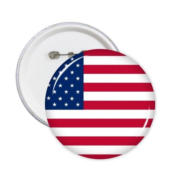 EE. UU., islas del norte, Croacia, Mauricio, Rusia, Irlanda, bandera nacional, América del Norte, país, Pin redondo, botón de insignia, 5 piezas