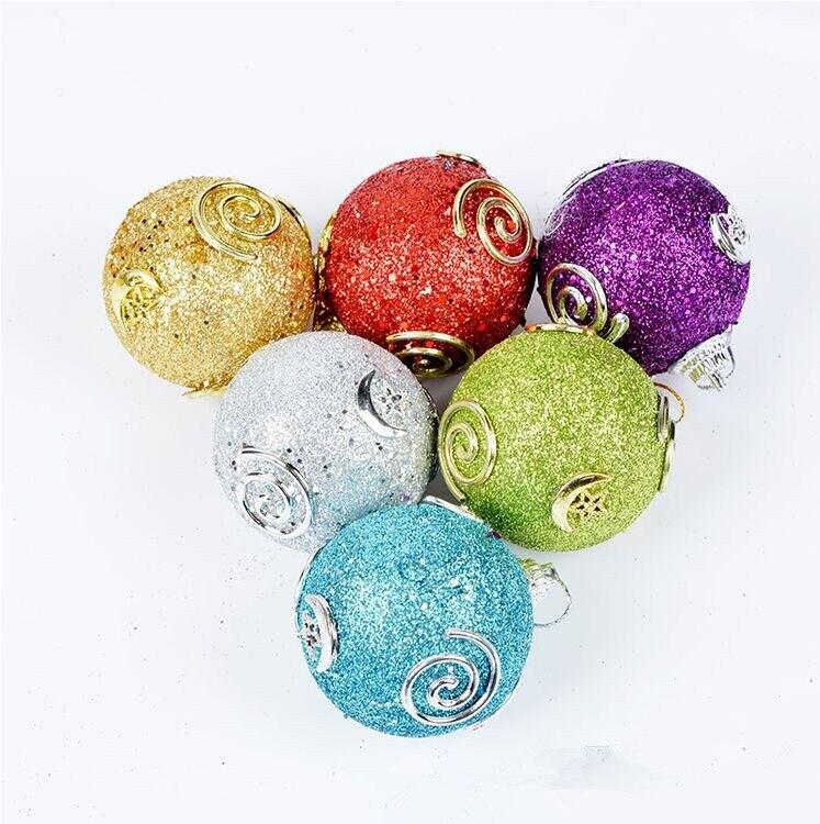 6 unids/set hermoso colgante decorativo de Navidad bolas de espuma de alta...
