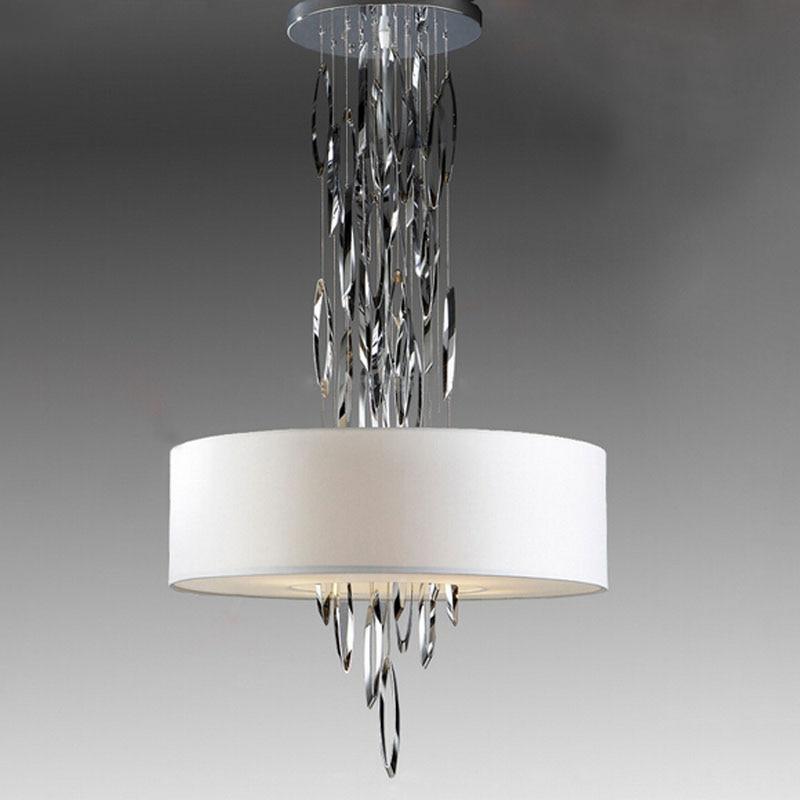 Z diseño creativo moderna lámpara colgante de acero inoxidable tela de Arte Americano luz colgante para sala de estar lámpara de interior