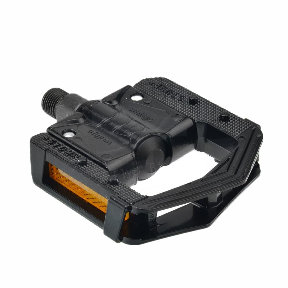 Wellgo F265 MTB педаль складной дизайн Алюминиевый сплав 2DU педаль подшипника Черный