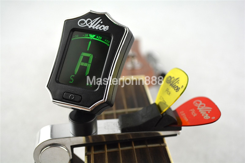 Alice Multifunctional Guitar Tuner Capo Pick Holder For Acoustic Electric Guitar Clamshell Package enlarge