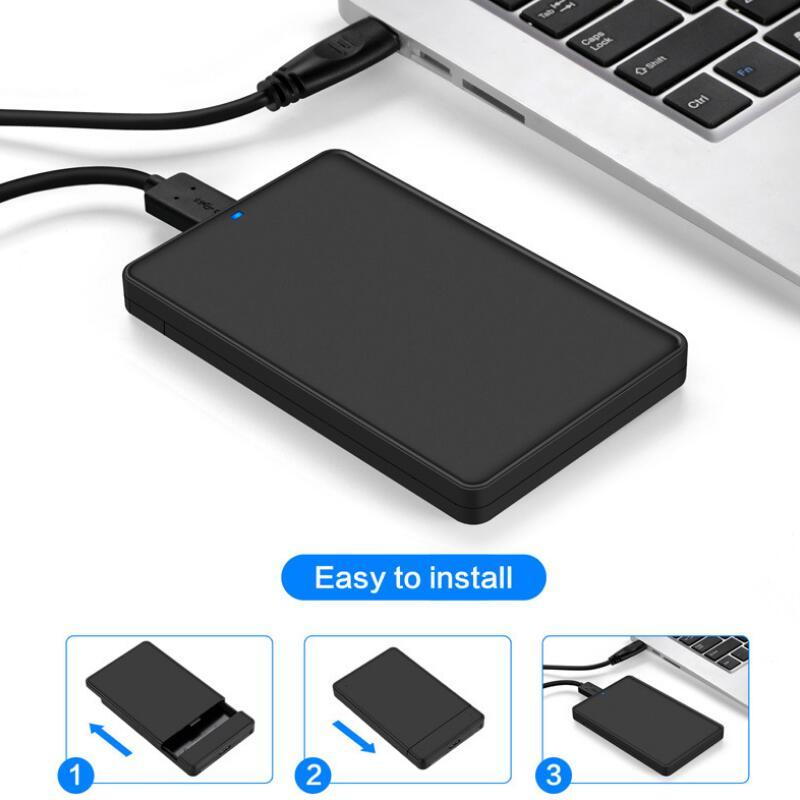 Adaptador SATA a USB 2,5 SSD de 3,0 pulgadas para Samsung Seagate SSD, caja de la unidad de disco duro de 2 TB, carcasa externa HDD, adaptadores de tarjeta de memoria