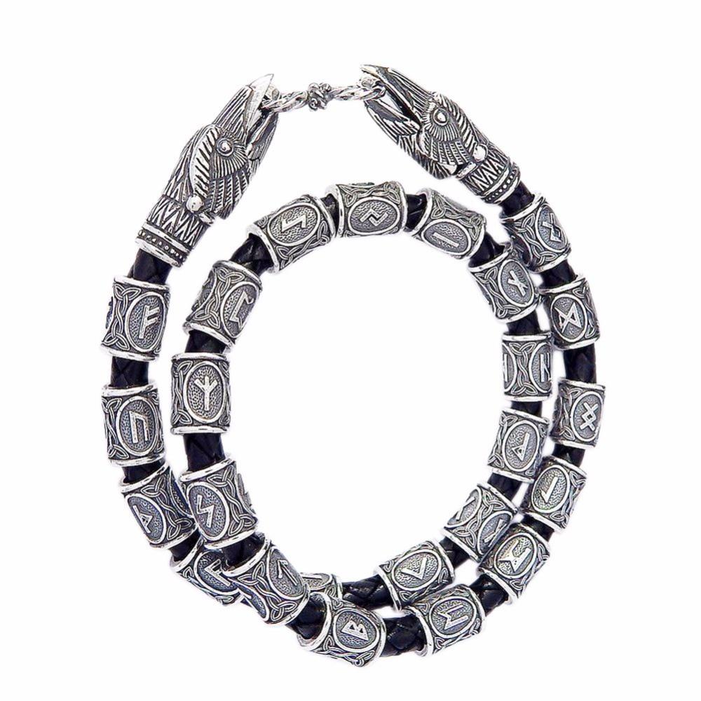 24pcs/set Norse Viking Runes Charms Beads Findings for Bracelets for Pendant Necklace for Beard or Hair Vikings Rune Kits#250951