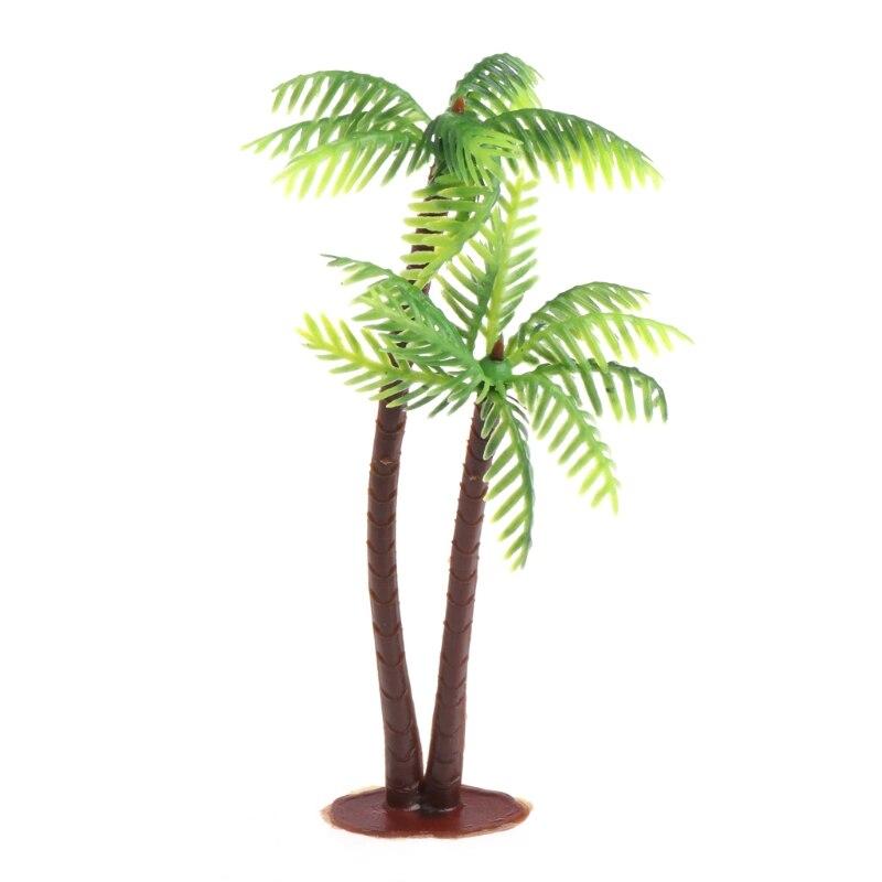 Minipaisaje paisaje modelo simulación palmeras de coco árbol decoración del hogar adornos YH-461074