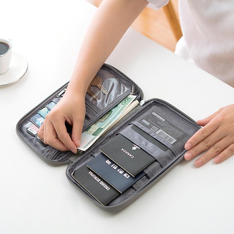 JULYS SONG Multifunctional Credit Card Wallet Waterproof Travel Passport Wallet Portable Holder Card Package Cation Storage Bag