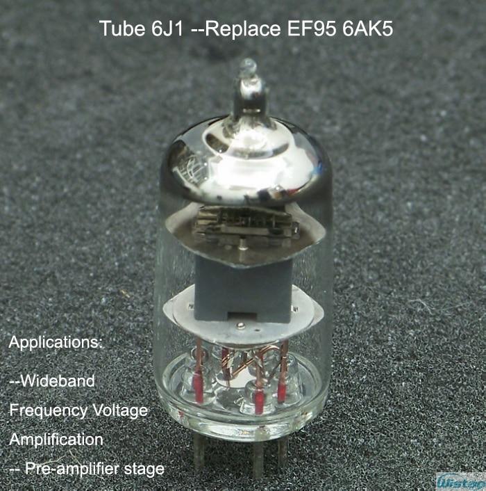 Tubo 6J1 J grado militar para tubo amplificador HiFi modelo WVT2103 Replac EF95 6AK5 alta fiabilidad sincronización precisa envío gratis