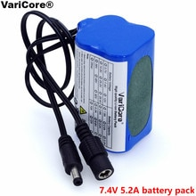 VariCore 7.4 V 5200 mah 8.4 V 18650 li-lon batterie protéger vélo lumières avant phare batterie spéciale DC 5.5*2.1mm