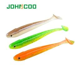 Johncoo nova isca de pesca suave swimbait shad 2.1g 4.5g 9.5g artificial isca de pesca gabarito worm baitsilicone baixo minnow isca pasca