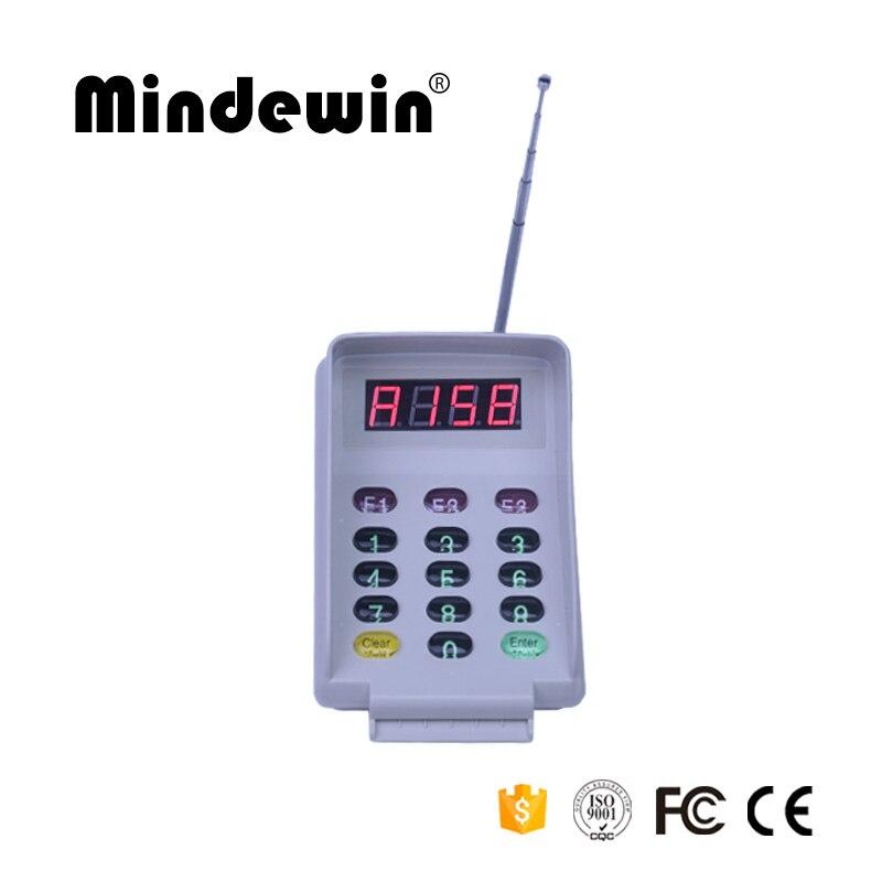 Mindewin restaurante de largo alcance sistema de llamadas inalámbrico cocina llamar camarero posavasos página transmisor M-T-2