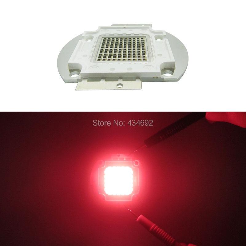 Alta Potencia 100 W infrarrojo IR rojo Led cuentas 685NM-690NM 18-20 V 3500MA Led emisor de lámpara iluminaciones