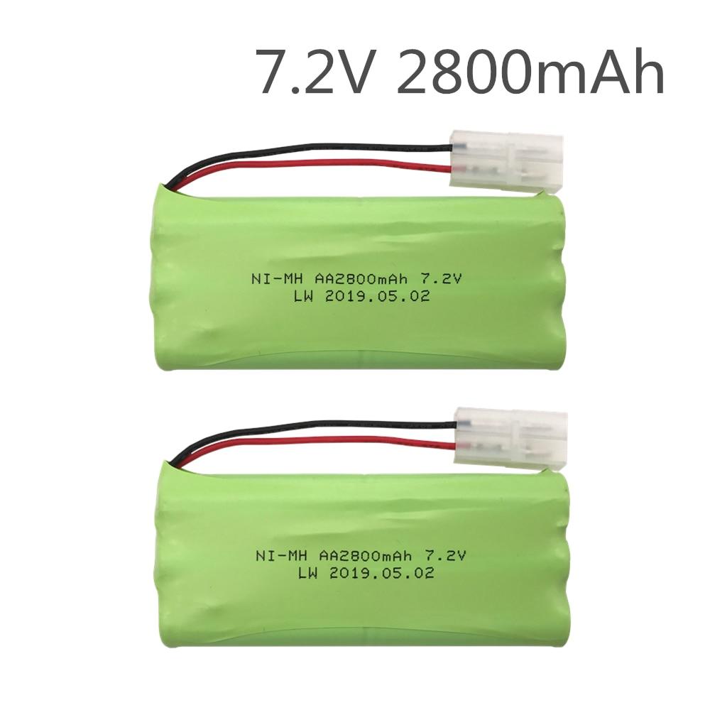 2pc batería de 7,2 v 2800mah ni-mh batería 7,2 v batería nimh...