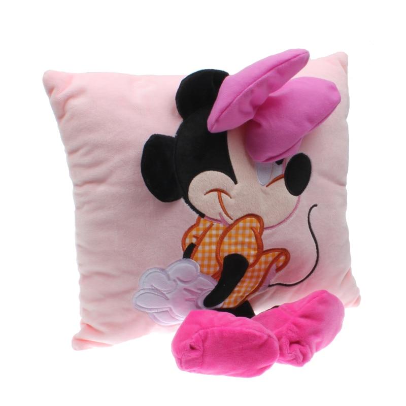 Dropship 1pc Mickey&Minnie Plush Toy Soft Stuffed Animal Mouse Plush Pillow Cartoon Sofa Car Cushion For Kids Baby Birthday Gift