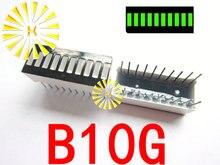 5 PCSx 10 شريحة الأخضر أحمر أصفر LED بار 10*25 ملليمتر الرقمية أنبوب عرض وحدة B10G B10R B10BY ضوء الخرز